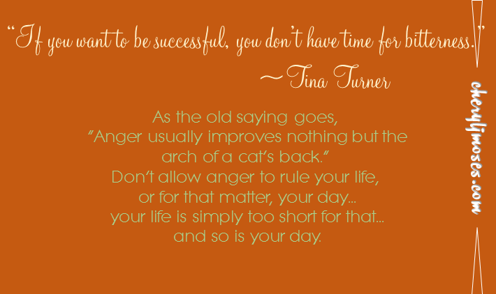 Turning Away From Anger